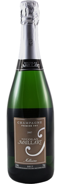 Champagne premier cru Brut Millésimé 2007