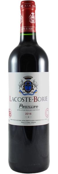 Lacoste-Borie 2016