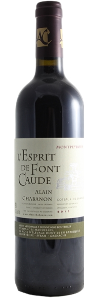 Languedoc Montpeyroux L'Esprit fond de Caude 2013
